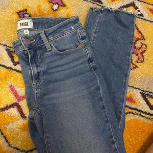 Paige jeans size 26 kylie crop Julian destructed